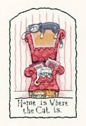 Heritage Home is Where the Cat is - Evenweave Cross Stitch Kit