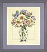 Dimensions Flowers in Tall Vase Floral Cross Stitch Kit