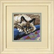 Dimensions Cuddly Cat Tapestry Kit