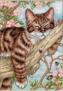 Dimensions Napping Kitten Cross Stitch