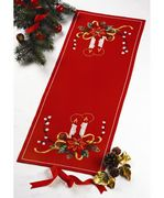 Permin Candles Table Runner Christmas Cross Stitch Kit