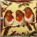 Vervaco Robins Cross Stitch Kit