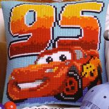 Vervaco Lightning McQueen Cross Stitch Kit
