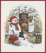 Dimensions Garden Shed Snowman Christmas Cross Stitch Kit