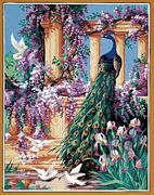 Royal Paris The Peacock Tapestry Canvas