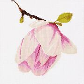 Lanarte Magnolia - Evenweave Floral Cross Stitch Kit
