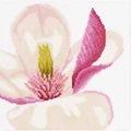 Lanarte Magnolia Flower - Evenweave Floral Cross Stitch Kit