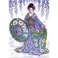 Design Works Crafts Blue Geisha Cross Stitch Kit