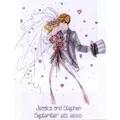 Design Works Crafts Wedding Couple Wedding Sampler Cross Stitch Kit