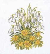 Eva Rosenstand Snowdrops and Buttercups Floral Cross Stitch Kit