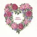 Eva Rosenstand Rose Wedding Wreath Wedding Sampler Cross Stitch Kit