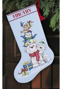 Dimensions Stack of Critters Stocking Christmas Cross Stitch Kit
