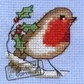 Mouseloft Robin Christmas Card Making Cross Stitch Kit
