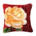 Vervaco Cream Rose Latch Hook Cushion Latch Hook Kit