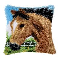 Vervaco Horse Latch Hook Cushion Latch Hook Kit