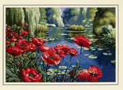 Dimensions Lakeside Poppies Tapestry Kit