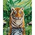 DMC Tiger Pool Cross Stitch Kit