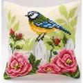 Vervaco Bluetit and Roses Cross Stitch Kit