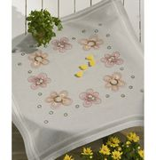 Permin Dots and Flowers Tablecloth Embroidery Kit