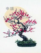 RIOLIS Bonsai Wish of Well Being Floral Cross Stitch Kit