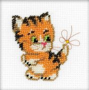 RIOLIS Ginger Kitten Beaded Embroidery Cross Stitch