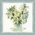 RIOLIS White Lillies Floral Cross Stitch Kit