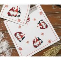 Permin Three Elves Placemat Christmas Cross Stitch Kit