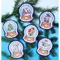 Design Works Crafts Snow Globes Ornaments Christmas Cross Stitch Kit