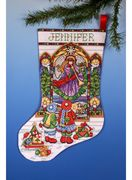 Design Works Crafts Stained Glass Stocking Christmas Cross Stitch Kit
