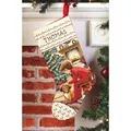 Janlynn Waiting for Santa Stocking Christmas Cross Stitch Kit