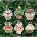 Janlynn Christmas Cupcake Ornaments Cross Stitch Kit