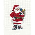 Derwentwater Designs Santa's Sack Christmas Card Making Cross Stitch Kit
