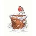 Heritage Garden Friend - Evenweave Christmas Cross Stitch Kit