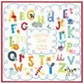 Dimensions Alphabet Birth Record Birth Sampler Cross Stitch Kit