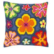 Vervaco Bright Flowers Floral Cross Stitch Kit