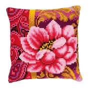 Vervaco Pink Flower Floral Cross Stitch Kit