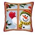 Vervaco Snowman Window Christmas Cross Stitch Kit