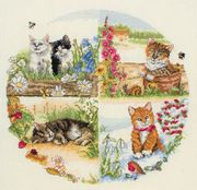 Anchor Cats and Seasons Cross Stitch Kit