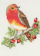 Anchor Red Robin Christmas Cross Stitch Kit