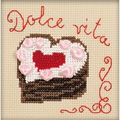 RIOLIS Heart Cake Cross Stitch Kit