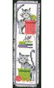 Vervaco Cat and Boxes Bookmark Cross Stitch Kit