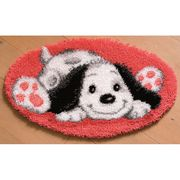 Vervaco Puppy Shaped Rug Latch Hook Kit