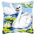 Vervaco Swans Cushion Cross Stitch Kit