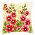 Vervaco Delphiniums Cushion Floral Cross Stitch Kit