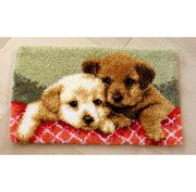 Vervaco Puppies Rug Latch Hook Kit