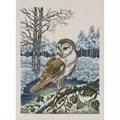 Permin Barn Owl - Aida Christmas Cross Stitch Kit