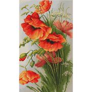Luca-S Red Poppies Cross Stitch Kit