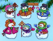 Design Works Crafts Welcome Winter Ornaments Christmas Cross Stitch Kit