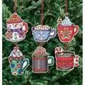 Janlynn Christmas Cocoa Mug Ornaments Cross Stitch Kit