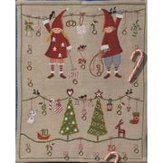 Permin Children and Trees Advent Christmas Cross Stitch Kit